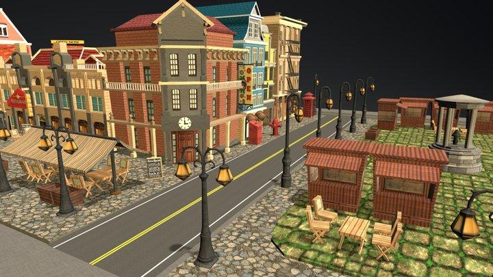 Town Square 3D Model