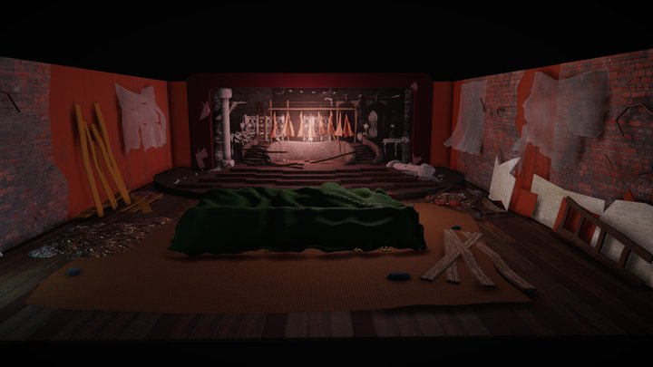 Day 2. Abandoned theater 3D Model