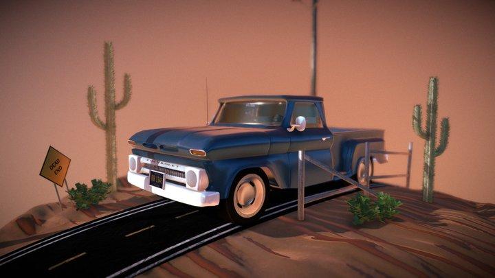 Chevrolet C10 Stepside 1966 3D Model