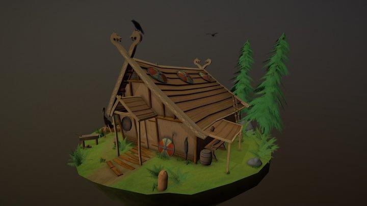 Viking boat builder. 3D Model