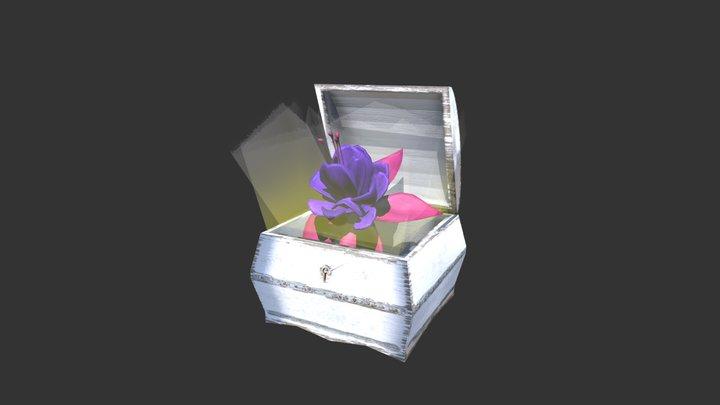 Flower in box 3D Model