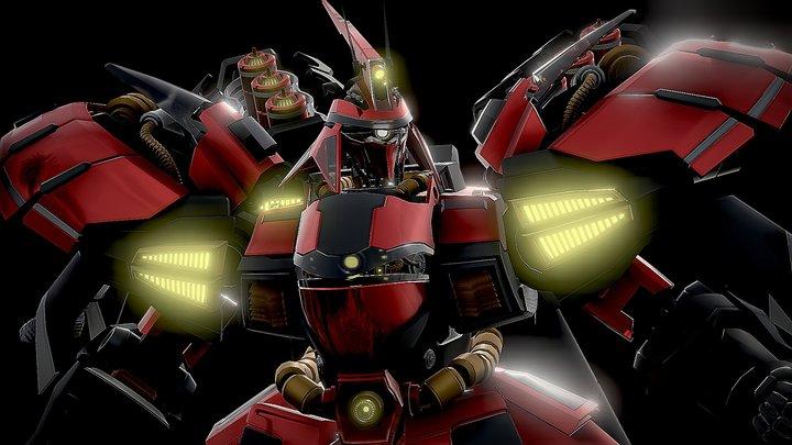 Geug Sazabi Msn-04 Gundam 3D Model