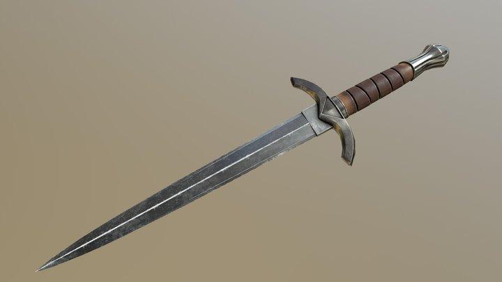 Iron Dagger 3D Model