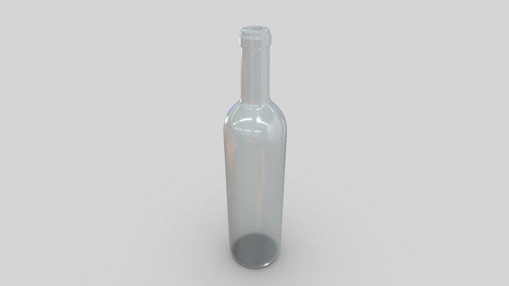 Bottle empty white glass 3D Model