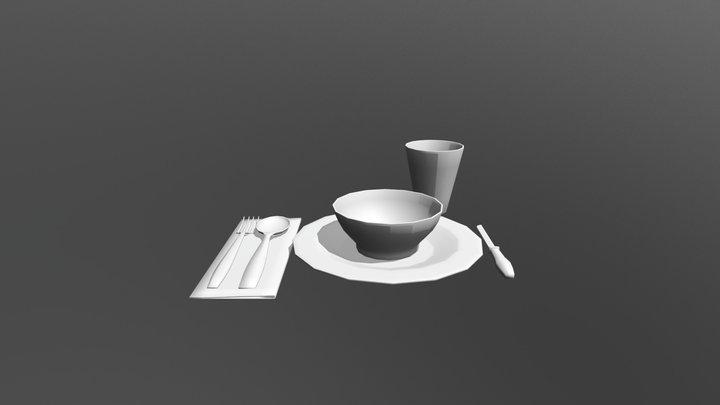 Place Setting Set 3D Model