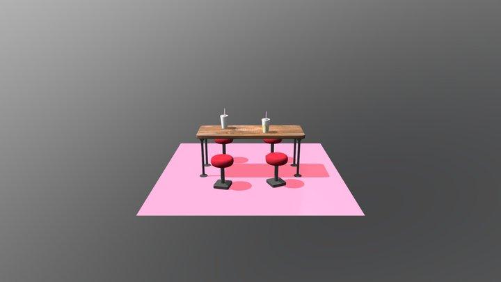 Macdonald's Table/Table de macdonald's 3D Model