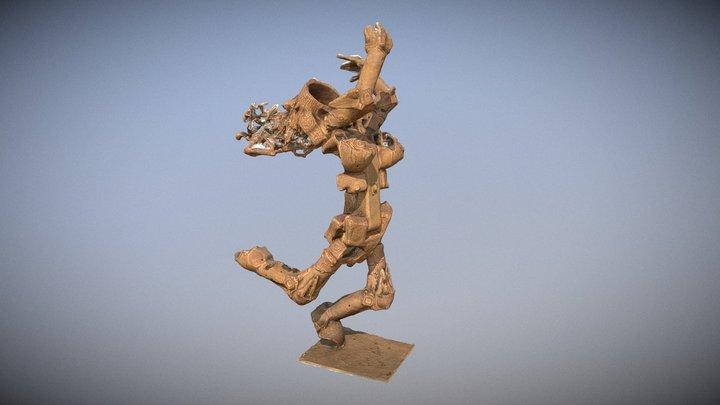 Rilievo 4D opera d'arte - Mènade 3D Model