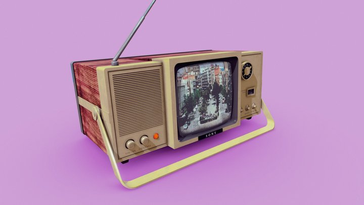 TV-Radio Old 3D Model