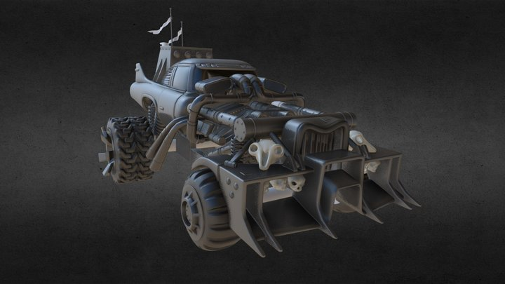 WIP - Mad Max Gigahorse 3D Model