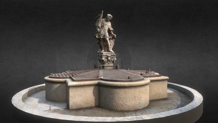 COL - workshop #1 - Znojmo, sv. Václav fountain 3D Model