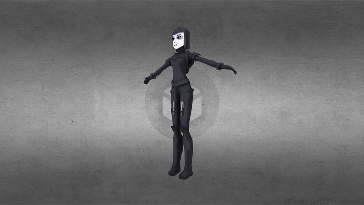 Cyber girl (wip) 3D Model