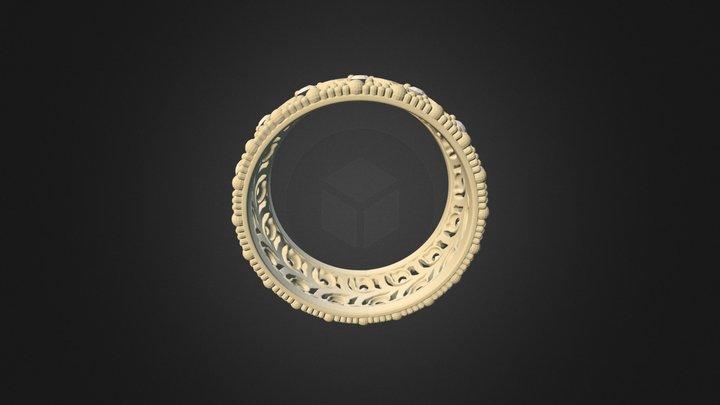 Кольцо на пробу с текстурами 2 3D Model