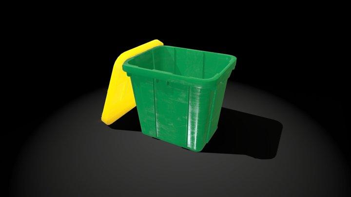Recycle Bin - Medium Detail 3D Model