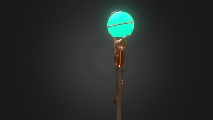 The great cabbage staff (low poly) 3D Model