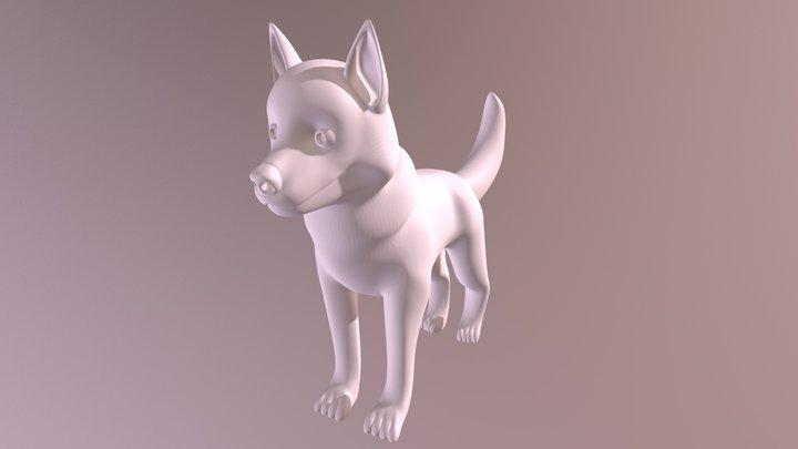 Happy Husky Puppy CGCookie Exercise 3D Model