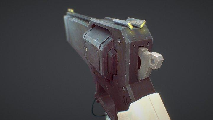 Retro Futuristic Gun 3D Model