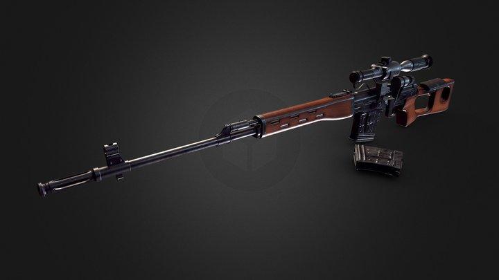 Dragunov Sniper Rifle (SVD) 3D Model