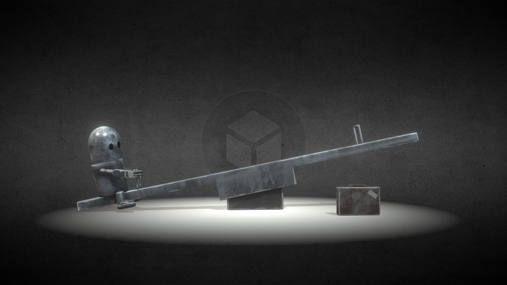 Little robot alone 3D Model