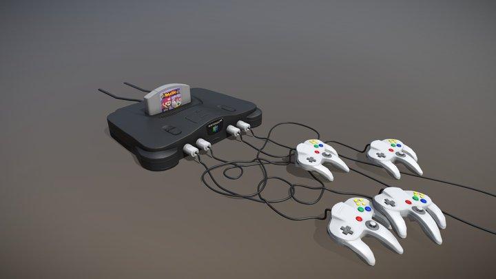 Nintendo 64 3D Model