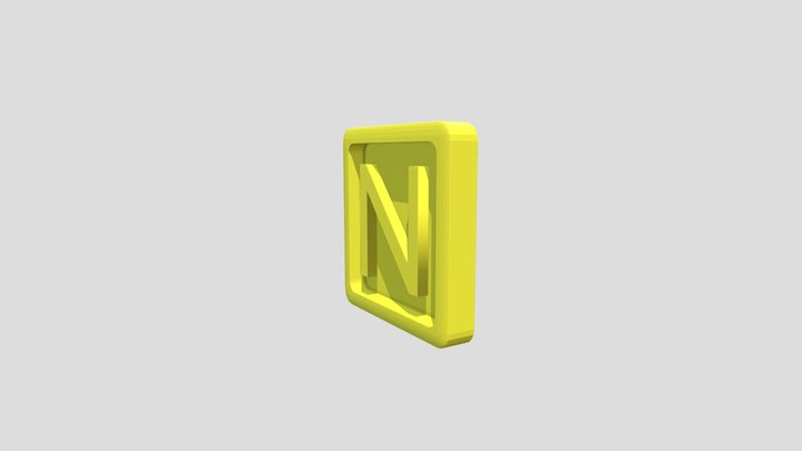 Donkey Kong Country 2 and 3 - Letter N 3D Model