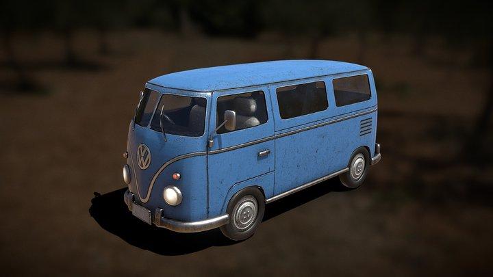 Wagen_Bus 3D Model