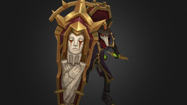 Black Scourge Singed 3D Model