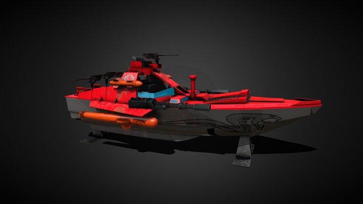 GI Joe Cobra Moray Hydrofoil 3D Model