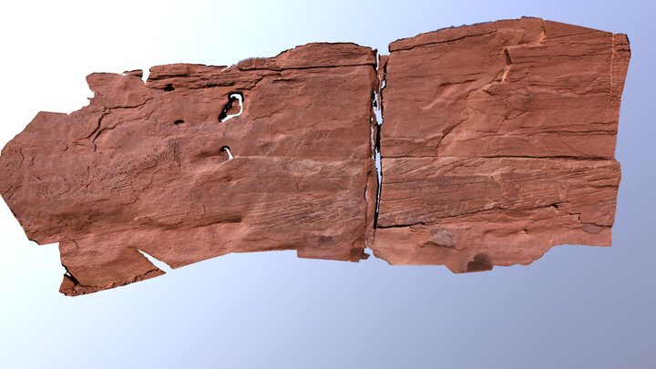 Sedimentary Structure Capitol Reef 3D Model