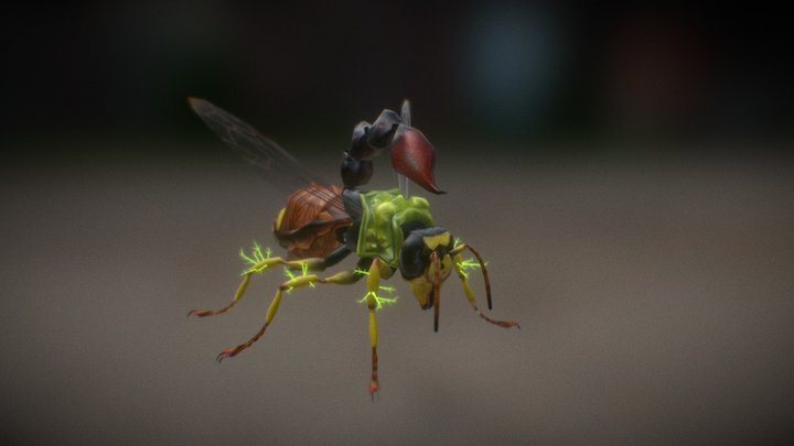 (new) Wasp Mutant - Hive Wars video game 3D Model