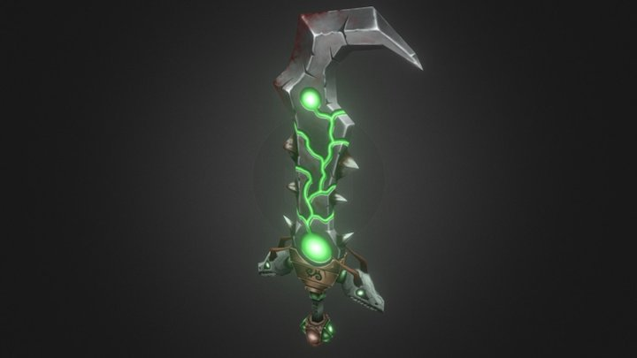 Handpainted WoW-style weapon 3D Model