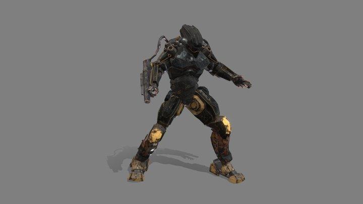 Mech Character lowpoly 3D Model