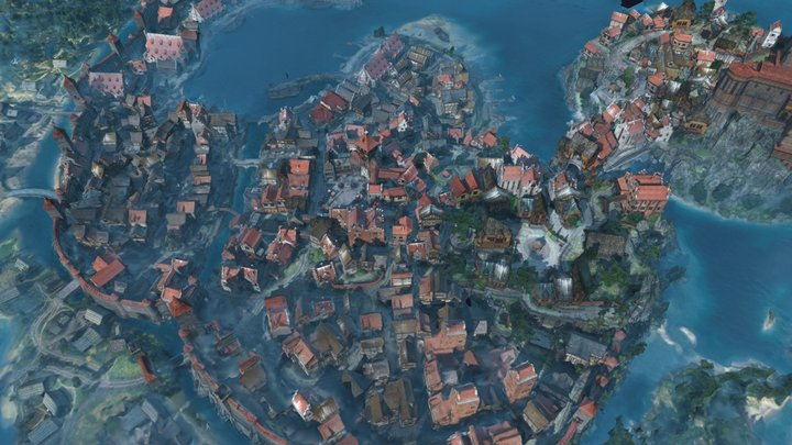 Witcher Novigrad city 3D Model