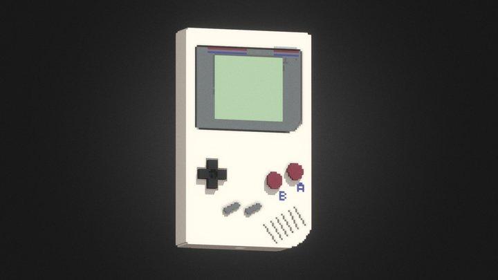 GAME BOY in voxel 3D Model