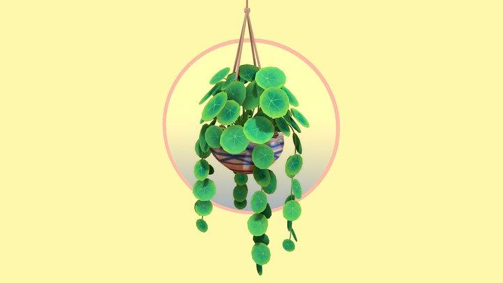 Round Leaf Hanging Houseplant 3D Model