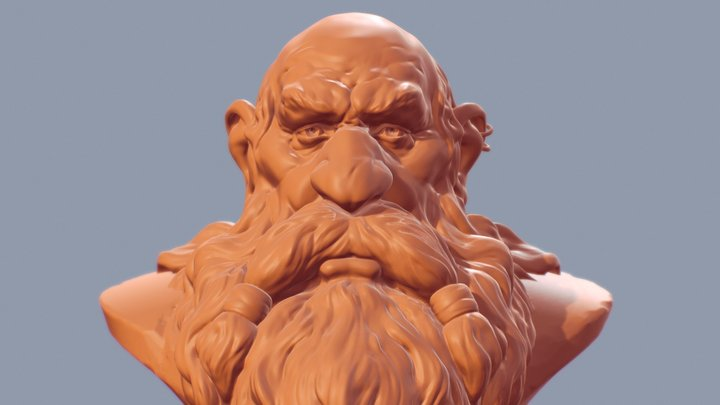 Dwarf Middle-Earth 3D Model