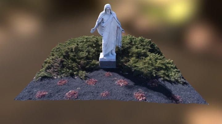 Anderson Memorial Cemetery Sculpture of Jesus 3D Model