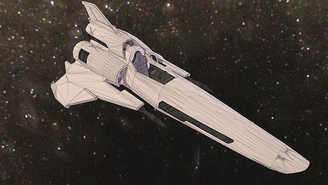 Viper MKII - Battlestar Galactica - WIP 3D Model