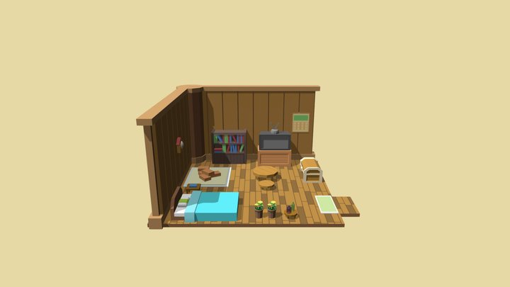Harvest Moon House 3D Model
