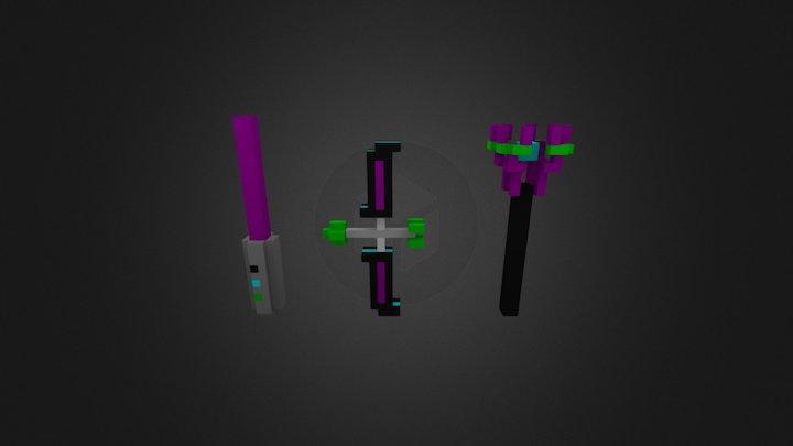 Voxel Art | Sci-Fi Weapons | Weekly Voxels 3D Model