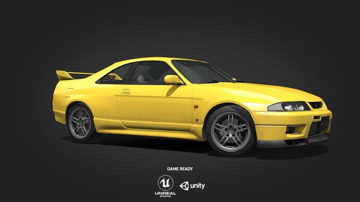 1997 Nissan Skyline GT-R R33 V-Spec 3D Model