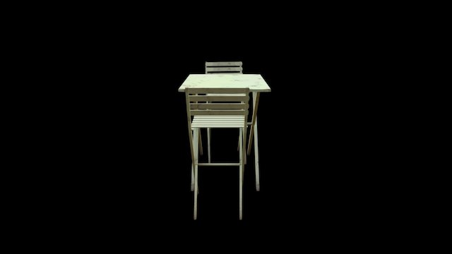 prop_table_chairs 3D Model