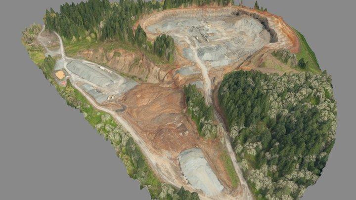 Davis Creek Quarry - April 2017 3D Model