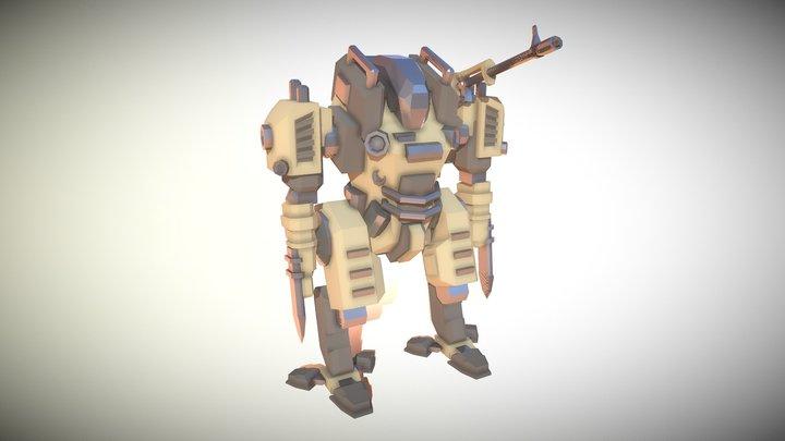 Wasteland Mech 3D Model