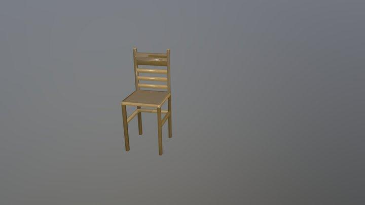 Lowpoly Chair 3D Model