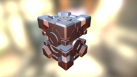 Portal Companion Cube Box 3D Model