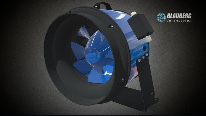 Blauberg Primo round duct fan 3D Model