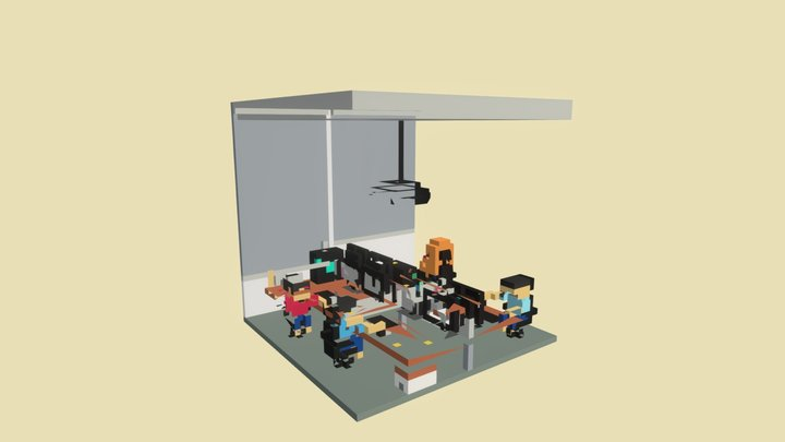 A Day At Work 3D Model