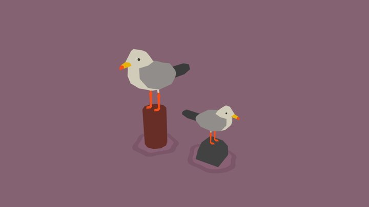 Gulls 3D Model