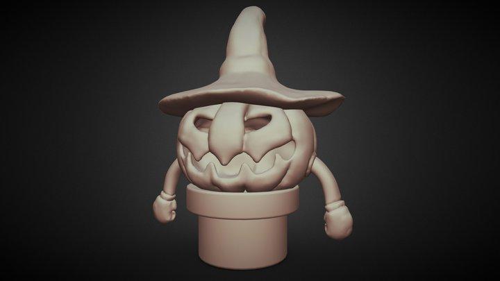 Day6: Monster Pumpkin 3D Model