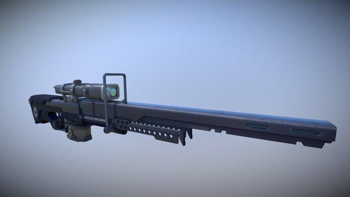SRS100-EM Gauss Sniper (Downfall an ODST story) 3D Model
